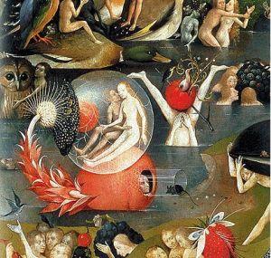 Hieronymus Bosch, Gyönyörök kertje, részlet