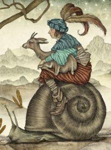 csigaháton őzikével