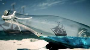 hajó egy üvegben, szürreális