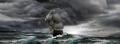hajó, viharos tengeren