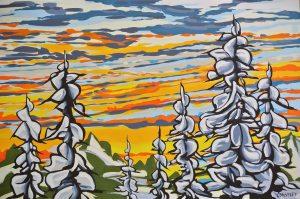 Tavaszi vihar - Ani Siminoff festménye